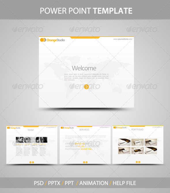 GraphicRiver OrangeStudio PowerPoint Template 483400