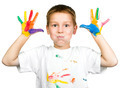 boy shows his hands painted with paint - PhotoDune Item for Sale