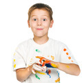 boy with  paints - PhotoDune Item for Sale
