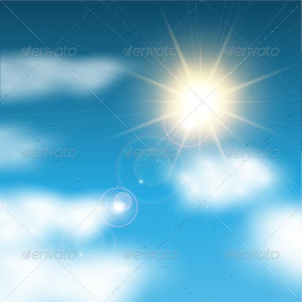 GraphicRiver Sunny Blue Sky 4627137