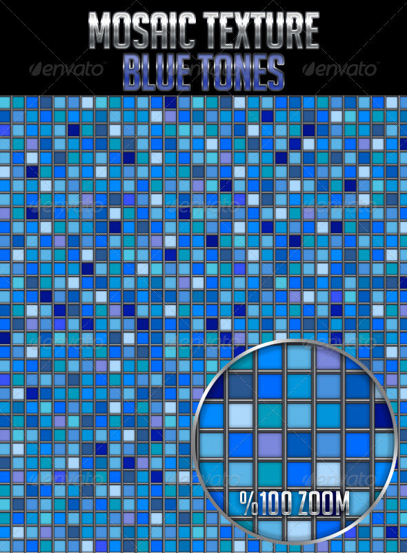 GraphicRiver Mosaic Texture Blue Tones 4627504