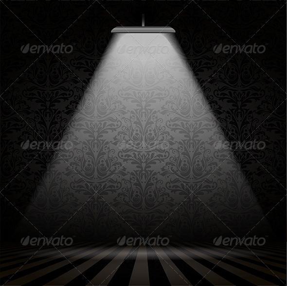 GraphicRiver Interior with Spotlight 4627690