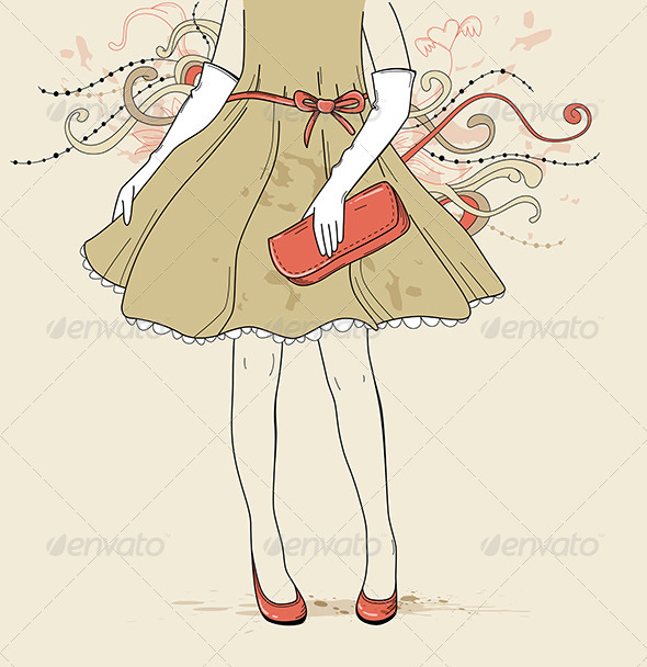 GraphicRiver Girl in Evening Dress 4628040