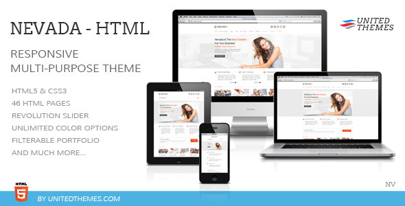 ThemeForest Nevada Responsive HTML Template 4628282