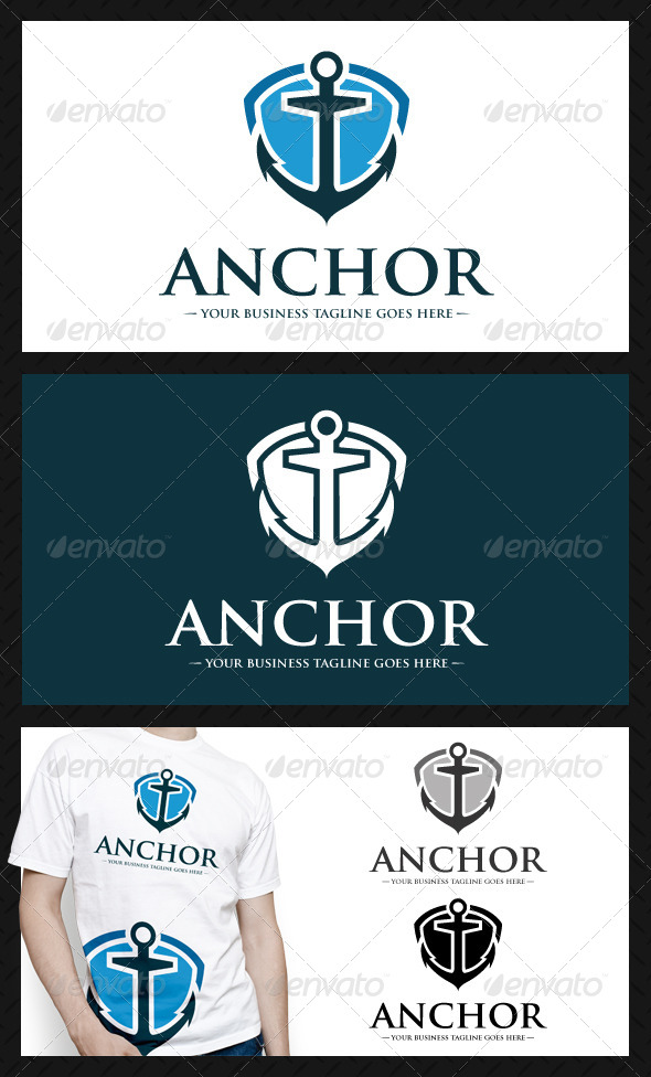 GraphicRiver Anchor Shield Logo Template 4628782