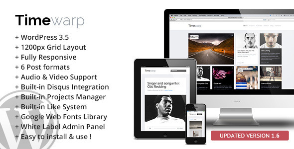 Timewarp - Responsive WordPress Theme - Creative WordPress