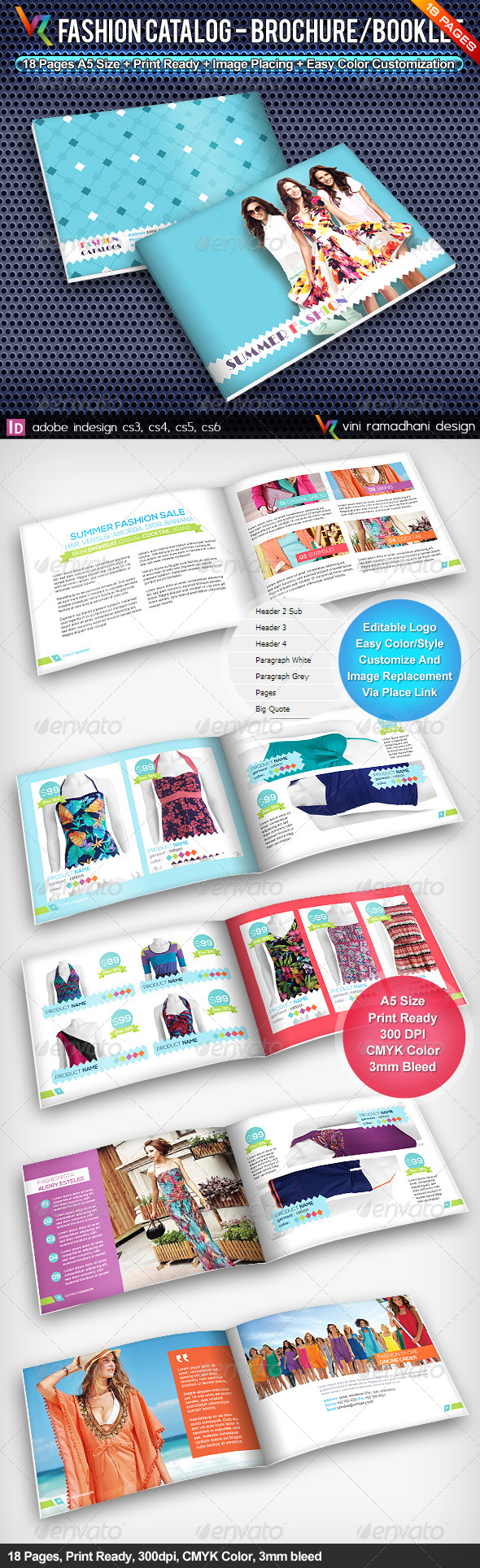 GraphicRiver Summer Fashion Catalog Brochure