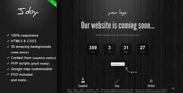 Jday - Coming  Soon page - Under Construction Specialty Pages
