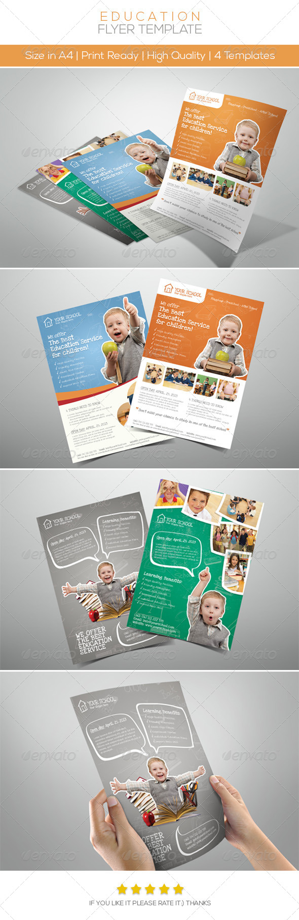 GraphicRiver Premium Junior Education Flyers 4565334