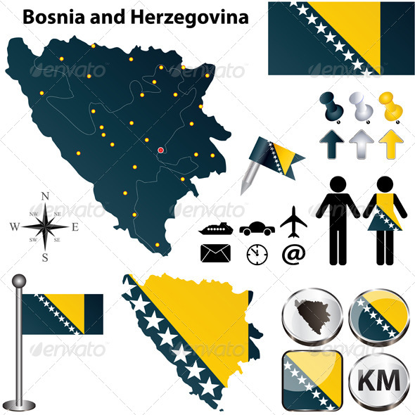 GraphicRiver Map of Bosnia and Herzegovina 4629621