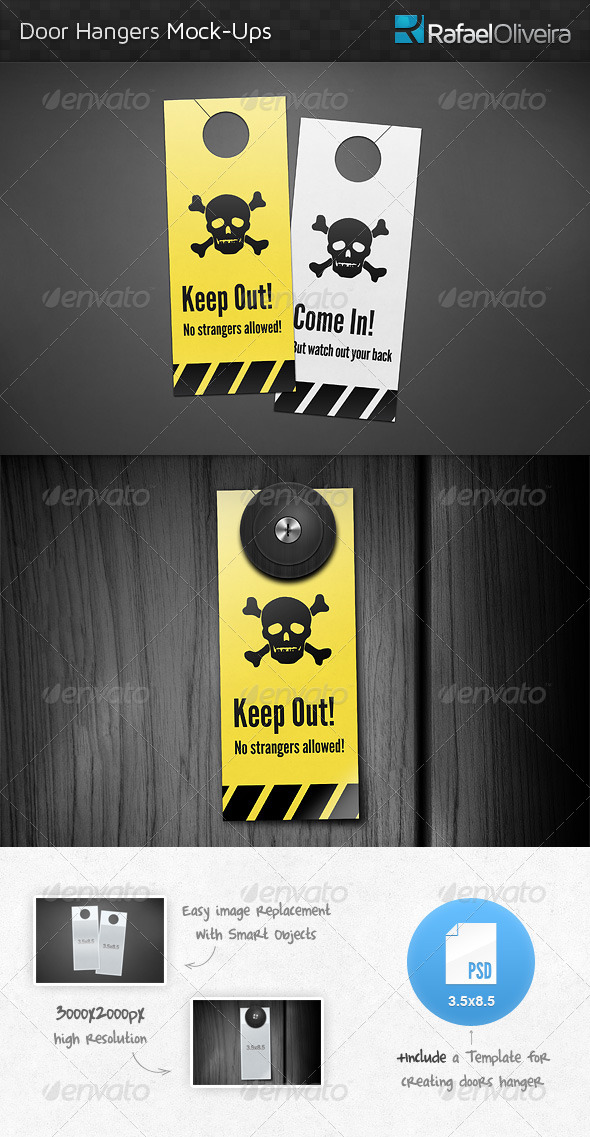 GraphicRiver Door Hanger Mock-Ups 4629646