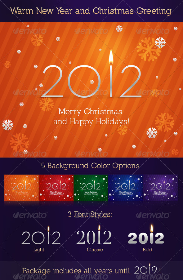 GraphicRiver Warm New Year and Christmas Greeting 137789
