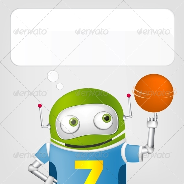 GraphicRiver Cute Robot 4629673