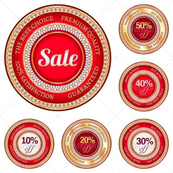 Set of Sale Labels - Retail Commercial / Shopping