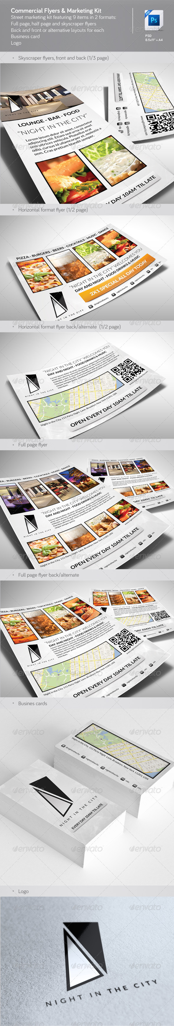 Commercial Flyers & Marketing Kit - Restaurant Flyers