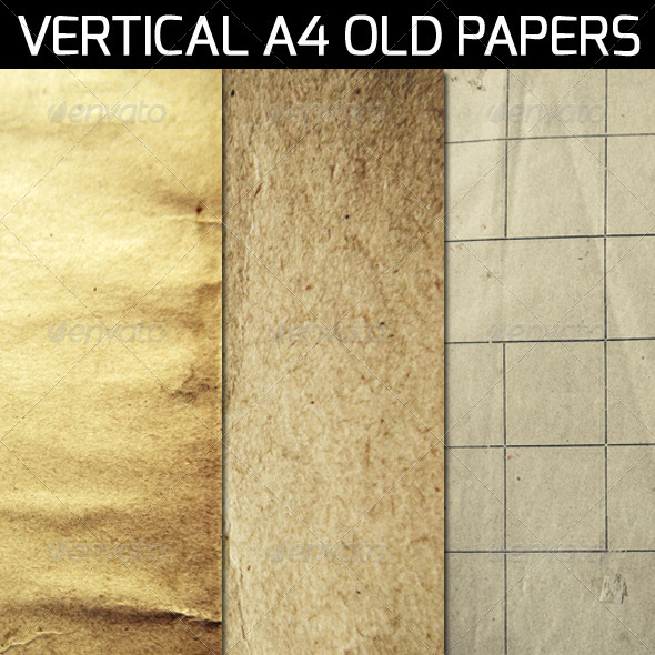 Vertical A4 Old Papers - Paper Textures