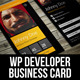Windows Phone Developer Business Card - GraphicRiver Item for Sale