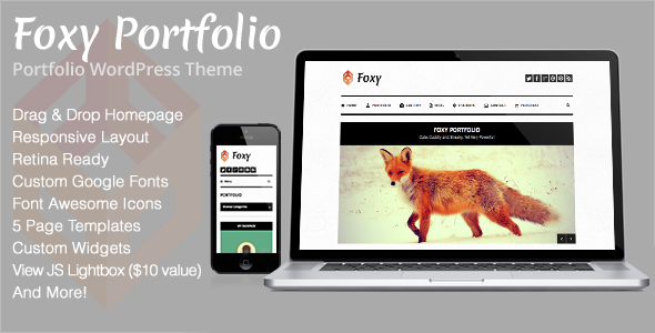 ThemeForest Foxy Portfolio Responsive WordPress Theme 4630606