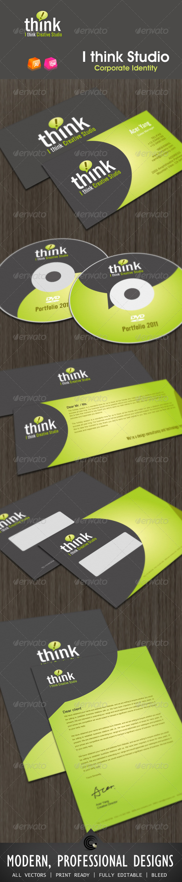 Ithink Studio Corporate Identity - Stationery Print Templates