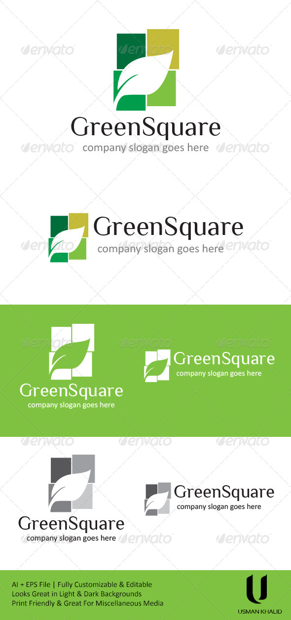 GraphicRiver Green Square 4621742