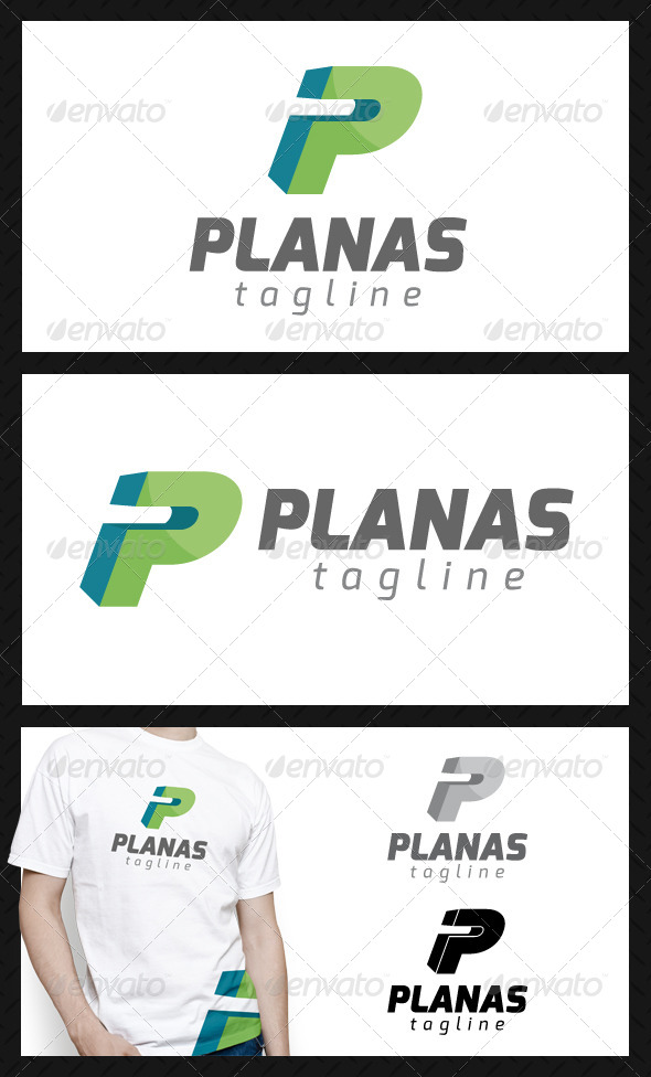 GraphicRiver Planas Letter P Logo Template 4632067