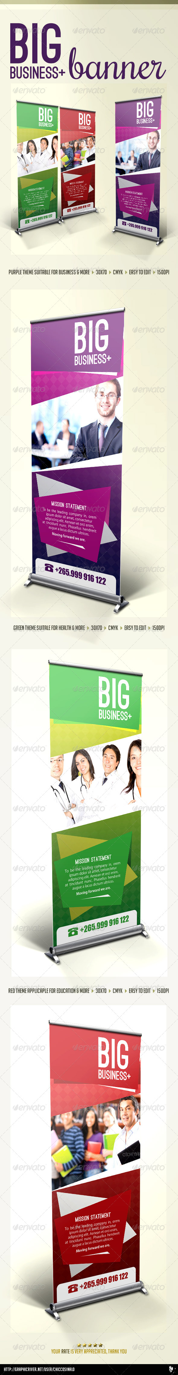 Big Business Banner Template - Signage Print Templates