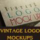 Vintage Logo Mock Ups - GraphicRiver Item for Sale