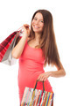 Cute brunette with shopping bags - PhotoDune Item for Sale