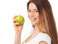 Beautiful woman eating green apple - PhotoDune Item for Sale