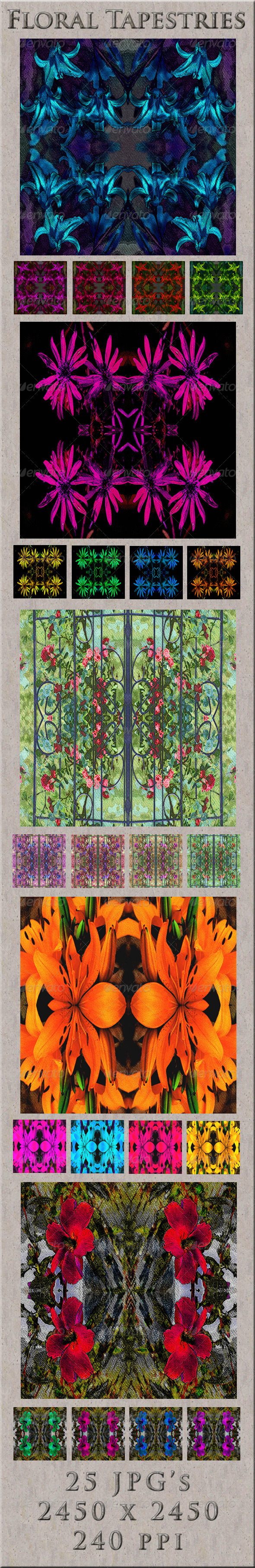 GraphicRiver Floral Tapestries 4633050