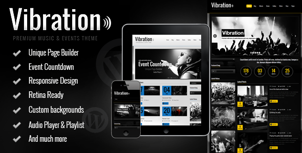 ThemeForest Vibration Responsive Music & Events Theme 4613647