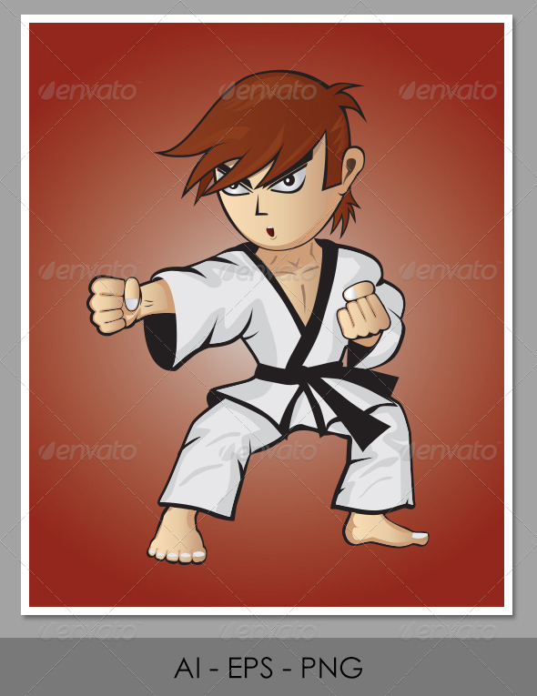 GraphicRiver Character Design Fighter Mascot 4633087