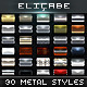 30 Best Metal Photoshop Styles [BUNDLE] - GraphicRiver Item for Sale