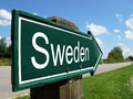 Sweden signpost along a rural road - PhotoDune Item for Sale
