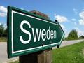 Sweden signpost along a rural road - PhotoDune Item for Sale