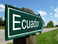 Ecuador arrow signpost along a rural road - PhotoDune Item for Sale