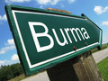 Burma road sign - PhotoDune Item for Sale