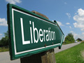 Liberation signpost along a rural road - PhotoDune Item for Sale