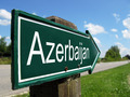 Azerbaijan arrow signpost along a rural road - PhotoDune Item for Sale