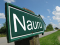 Nauru arrow signpost along a rural road - PhotoDune Item for Sale