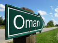 Oman signpost along a rural road - PhotoDune Item for Sale