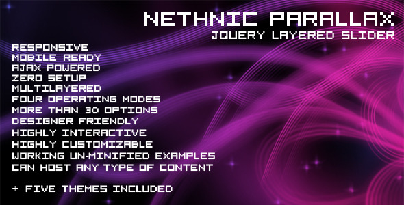 Nethnic Parallax Slider jQuery Plugin - CodeCanyon Item for Sale