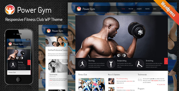 Power Gym - Responsive Wordpress Theme - theme preview screenshot