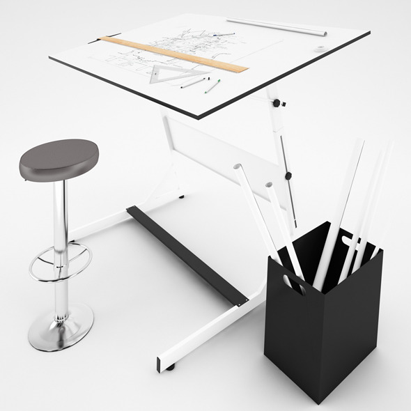 Drafting Table - 3DOcean Item for Sale