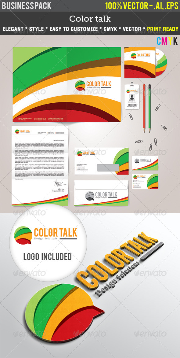 GraphicRiver ColorTalk Indentity Pack 4536069