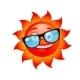 Happy Sun in Sunglasses - GraphicRiver Item for Sale