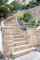 Stone Veneer Facade on Home Exterior Staircase - PhotoDune Item for Sale
