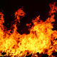 fire burning in black background - PhotoDune Item for Sale