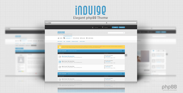Indulge - Clean phpbb theme