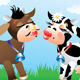 Cartoon Kissing Cows in Love - GraphicRiver Item for Sale